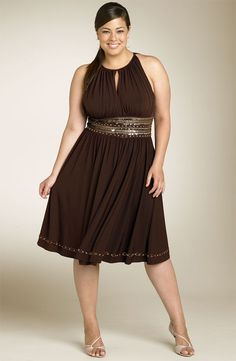 Curvy girl summer dress for summer comfort and style.