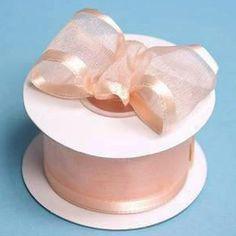 """10 Yard 1.5"""" DIY Peach Organza Ribbon With Wired Edged For Craft Dress Wedding"""