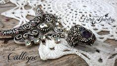 Collana cristalli e ametista grezzo tibetano fatato cristalloterapia , by Evangela Fairy Jewelry, 19,00 € su misshobby.com