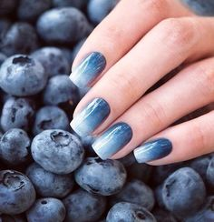 Luxurious Musings — blueberry nails