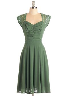 Put a Bard on it Dress in Olive.  #modcloth  Love it but not sure if the style is a good one for me, may have to try it (;