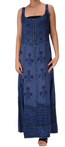 SNS Women New Embroidered Blend Cotton Adjustable Elastic Long Dress Blue * Click image for more details. Blue Dresses, Summer Dresses, Image Link, Seasons, Detail, Fitness, Cotton, Women, Fashion