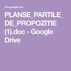 PLANSE_PARTILE_DE_PROPOZITIE (1).doc - Google Drive Google Drive, School, Ss, Paper