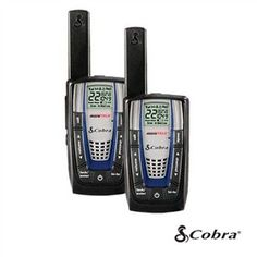 The Cobra CXR825 two way radio has great features in a very compact size.