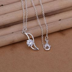 Lose Money Promotions silver-plated necklaces & pendants inlaid stone vintage necklace love