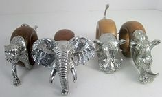 If you love decorating with exotic accessories, take a look at our #Jungle #Safari Figural Napkin Ring Set 4, Design C, South Africa Signed Pewter & Wood Elephant, Cheetah, Warthog, Rhino Makoulpa http://www.amazon.com/dp/B00UCJ6184/ref=cm_sw_r_pi_dp_htjwvb024RB7Z