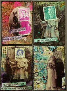 by Lillian: Canadian Scrap Tramp: Postage People Artist Trading Cards