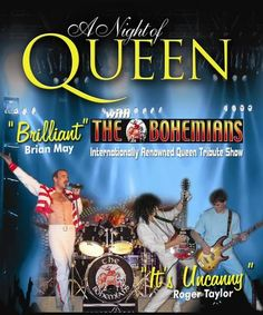The Bohemians - A Tribute to Queen at  The Half Moon, Putney, 93 Lower Richmond Rd, Putney, London, SW15 1EU, UK, On Thursday November 06, 2014 at 8pm to 11pm, Price: £12, The Bohemians, established in 1996, re-enact the glory days of Queen including the Craziness of the 70's and the Magic of the 80's. URLs: Tickets: http://atnd.it/15303-0, Facebook: http://atnd.it/15303-1, Category: Live Music | Gig.
