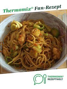 Gebratene Nudeln mit Huhn von Maschti. Ein Thermomix ®️️ Rezept aus der Kategorie Hauptgerichte mit Fleisch auf www.rezeptwelt.de, der Thermomix ®️️ Community.
