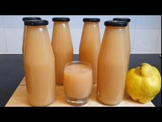 Nectar de gutui - YouTube Ketchup, Pantry, Gem, Food And Drink, Water Bottle, Stuffed Peppers, Youtube, Drinks, Syrup