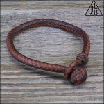 10 Strand Braid Leather Bracelet