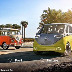 Classic vs. Modern: which Microbus do you prefer?  by @volkswagen - #CamperLifestyle _
