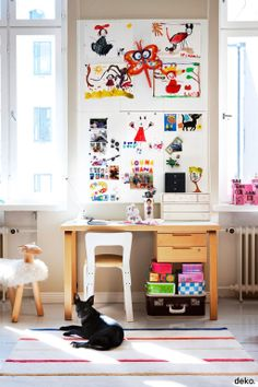 Scandinavian deco. Magnet board for kids