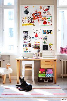 Scandinavian deco. Magnet board for kids