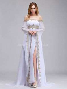 Off Shoulder Medieval Wedding Dress - Dress . - Off Shoulder Medieval Wedding Dress – dress # - Medieval Dress, Evening Dresses, Prom Dresses, Formal Dresses, Wedding Dresses, Pretty Dresses, Beautiful Dresses, Medieval Wedding, Fantasy Gowns