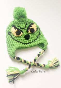 PATTERN Crochet Grinch hat pattern Grinch hat by CraftedVisions