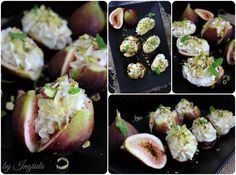 Figs with Vanilla Lemon Ricotta & Pistachios