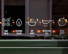 display window / Yoobi icons pictogram #decal