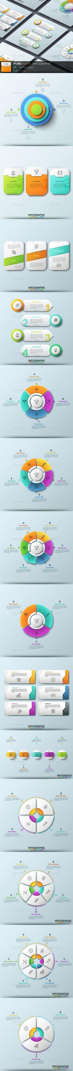 Pure Shape Infographic Templates PSD, Vector EPS, AI Illustrator