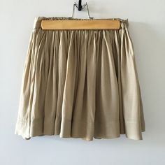 Beige Mini Skater Skirt 👗 Flowy Mini Skater Skirt 👗 with lining inside. Great Condition💐 Bought in Korea (hub of fashion and beauty🎀) Skirts Circle & Skater