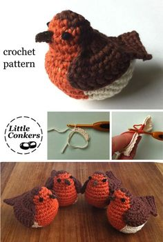 Crochet Robin Pattern by Little Conkers … More