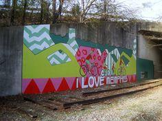 Mural on Greenline - I love Memphis by joespake, via Flickr
