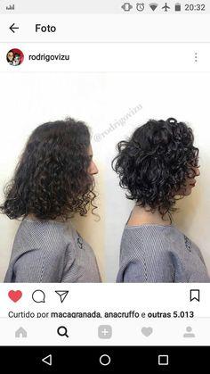 Add more shape to curly hair Hair in 20 Fügen Sie dem lockigen Haar mehr Form hinzu Haare im Jahr 2019 Haircuts For Curly Hair, Curly Hair Tips, Bob Hairstyles, Curly Hair Styles, Natural Hair Styles, Wavy Hair, Layered Curly Hair, Short Curly Hair, Curly Inverted Bob