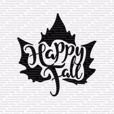 Happy Fall leaf svg cut file autumn fall Thanksgiving