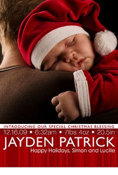 Another cute birth announcement for a holiday baby