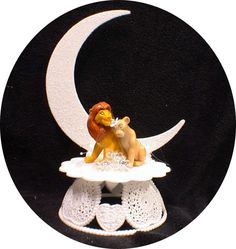 Lion King Disney Wedding Cake Topper Lot Gles By Yourcaketopper