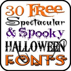 Bell Jar Vintage: See our Halloween Fonts at…