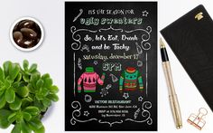 Ugly Sweater Invitation, Ugly Sweater Party, Ugly Christmas Sweater Invitation, Christmas invitations instant download by PrintablesForEvents on Etsy