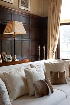 How To Make A Dark Paneled Room Look Fresh Light Wood TrimWood PanelingDining