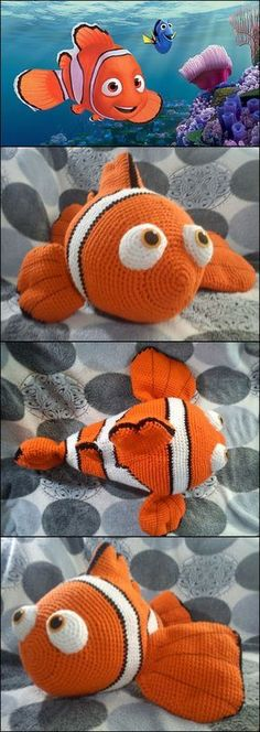 Nemo by Duchess Gala This pattern is available for free. A huge amigurumi version of Pixars Nemo. For more information see:http://ift.tt/2a7jNKj
