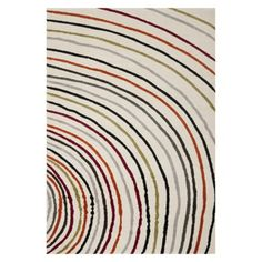 Safavieh Banded Area Rug-TARGET online fun option for the livingroom. This would add some color to the space without being too bold. The fiber isn't as durable as nylon but is resistant to strong cleaners so spills aren't bad to clean up.