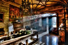 """""""Game of Thrones"""" themed wedding @ Belleek Castle. Entrance Hall in bright light…"""