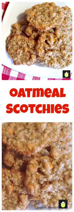 These Oatmeal Scotchies Cookies are packed full of flavor and incredibly easy to make.  Loaded with goodies such as butterscotch and cinnamon, they're always popular and great with a nice cold glass of milk.