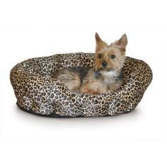 KandH Pet Products Self Warming Nuzzle Nest Brown Leopard 19' x 19' x 6' (Set of 6) >>> Details can be found by clicking on the image. (This is an affiliate link and I receive a commission for the sales) #DogCare
