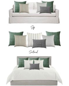 Our stunning pillows: Sofa, Sectional, and Bed Fall Living Room, Elegant Living Room, Living Room Pillows, Living Room Decor, Bedroom Decor, Living Room Flooring, How To Make Bed, Cushions On Sofa, Home Decor Accessories