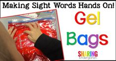 Making Sight Words Hands On! Gel Bags