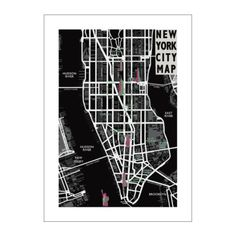 Poster : NYC map