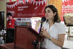 María Claudia López Sorzano, Viceministra de Cultura saluda a todos participantes e invitados a la feria regional
