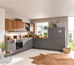 Ganz nach Ihrem Geschmack: moderne Einbauküche in natürlichem Design Küchen Design, Bungalow, Sweet Home, Kitchen Cabinets, Home Decor, Style, Kitchens, House And Home, Decorating Kitchen