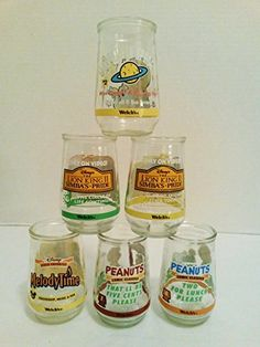 Vintage 6 Welchs Glass Jelly Jars - Collectible Disney Peanuts, Lion King, Muppets, MelodyTime, http://www.amazon.com/dp/B00Y3BBHPO/ref=cm_sw_r_pi_awdm_tzGEvb0J6CCRA