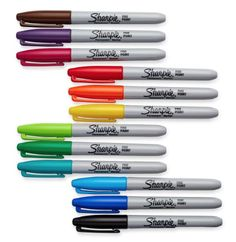 12 sharpie permanent markers fine point count black pack marker tip ultra chisel Sharpie Markers, Sharpies, Stabilo Boss Pastel, Sharpie Colors, Thing 1, Permanent Marker, Food Containers, Popcorn Containers, Get One
