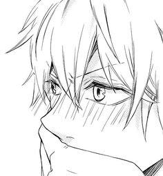 ♥ яσzℓεεи | via Tumblr I have this weird desire to pin anime boys blushing... eh, who cares! It's kawaii!:
