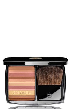 CHANEL SOLEIL TAN DE CHANEL BRONZING POWDER | Love this bronzing powder. The color that has CHANEL written through it can also be used as a highlighter for your eyes!
