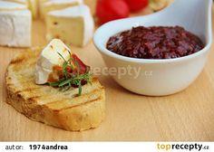 Sladkokyselý rajčatový chilli džem recept - TopRecepty.cz Camembert Cheese, Mashed Potatoes, Smoothie, Dairy, Appetizers, Pudding, Homemade, Ethnic Recipes, Desserts