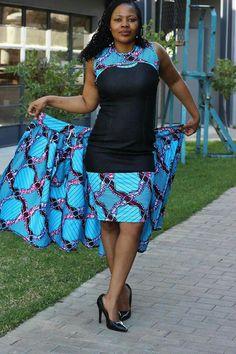 Robe et jupe. 2 en 1 Short African Dresses, African Print Dresses, African Fashion Dresses, Ghanaian Fashion, African Attire, African Wear, African Women, African Inspired Fashion, African Print Fashion