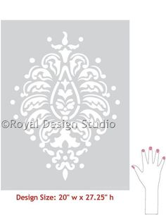 Grande Bombay Paisley Indian Designs Wall Motif Stencil